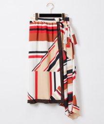GRACE CONTINENTAL/【TV着用】スカーフプリントスカート/502291839