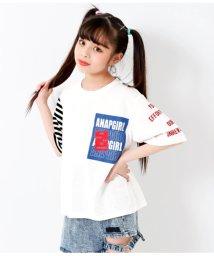 ANAP GiRL/袖アシメBIGTシャツ/502040987