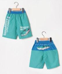 VacaSta Swimwear/新幹線ワンポイント柄セミロング丈サーフパンツ/502249902