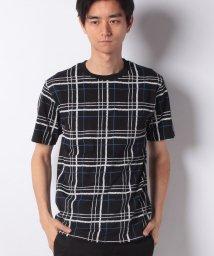 STYLEBLOCK/タータンチェック柄クルーネックTシャツ/502250054