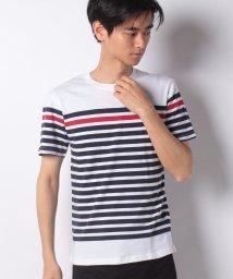 STYLEBLOCK/パネルボーダー天竺クルーネックTシャツ/502250057