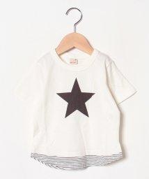 petit main/裾ボーダーTシャツ/502272074