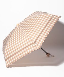 Afternoon Tea LIVING/スカラップギンガムチェック晴雨兼用折りたたみ傘 日傘/502276224
