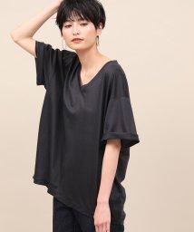 ROPE' mademoiselle/【洗える】リヨセルVネックTシャツ/502281677