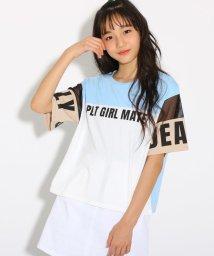 PINK-latte/カラーブロック Tシャツ/502291908