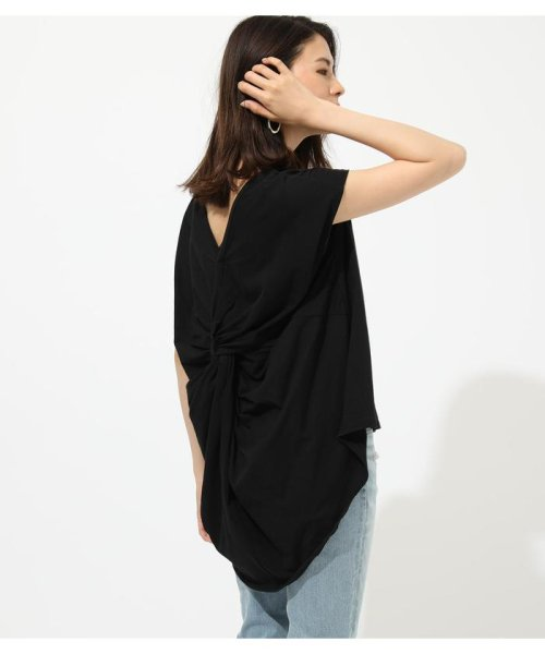 AZUL by moussy(アズールバイマウジー)/BACK TWIST FRENCH SLEEVE TOP/250CSA80-577F