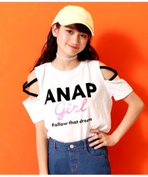 ANAP GiRL/袖クロスラメプリントトップス/502251317