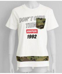 ANAP GiRL/カモフラメッシュBIGTシャツ/502293089