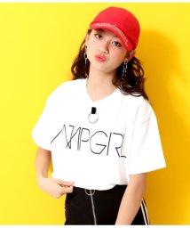ANAP GiRL/リング付BACKプリントTシャツ/502293093
