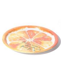 Afternoon Tea LIVING/オレンジ柄丸型トレイ/サマンサ・ハーン/502267661