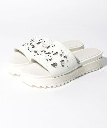 INTER-CHAUSSURES IMPORT/【ABOVE AND BEYOND】スターモチーフレーザーカット厚底サンダル/502288032
