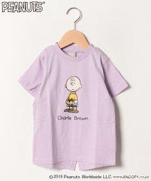 petit main/PEANUTSコラボ チャーリー・ブラウン後ろスリットTシャツ/502285139