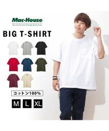 MAC HOUSE(men)/Real Standard ポケット付きビッグTシャツ 92-7237P-KJ/502294781