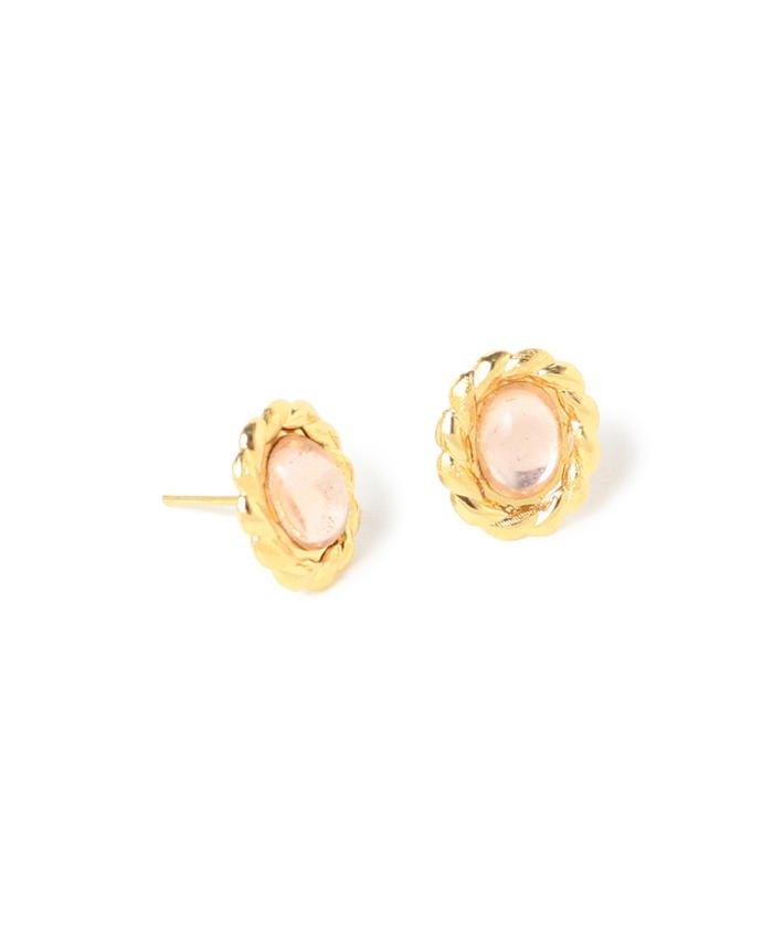 Diament Jewelry / ピンク オーバル ピアス