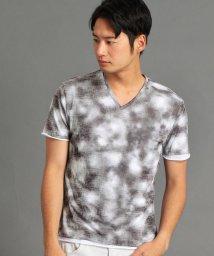 HIDEAWAYS NICOLE/ムラ柄二重仕立てTシャツ/502034222