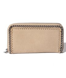 Stella McCartney/【STELLA McCARTNEY】ラウンドジップ長財布/SHAGGY DEER FALABELLA【CLOTTED CREAM】/502272884