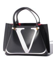 Valentino Garavani/【VALENTINO GARAVANI】GO LOGO エスケープ ミディアム ショッピングバッグインターシャ/502276094