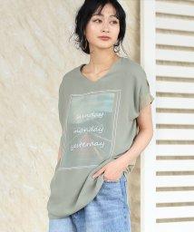 Bou Jeloud/Vネック3DTシャツ/502290884