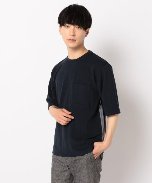 GLOSTER(GLOSTER)/ドッキングTシャツ/9-0692-2-53-330