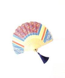 Viaggio Blu/≪manipuri≫スカーフモチーフ扇子/502295720
