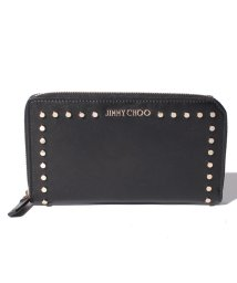 JIMMY CHOO/【JIMMYCHOO】ラウンドファスナー財布 SATIN LEATHER WITH ROUND STUDS/501422442