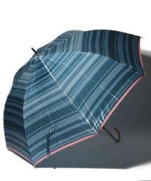 LANVIN en Bleu(umbrella)/LANVIN en Blue 婦人 長傘 【耐風】 ボーダー/501648006