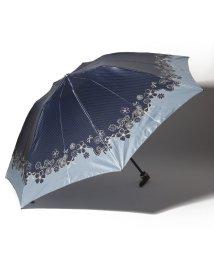 LANVIN en Bleu(umbrella)/LANVIN en Blue 婦人 ミニ傘 【クイックアーチ】 すそ 花/501648011