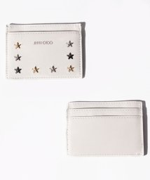 JIMMY CHOO/【JIMMYCHOO】カードケース LEATHER W/MULTI METAL STAR TRIM/502276048
