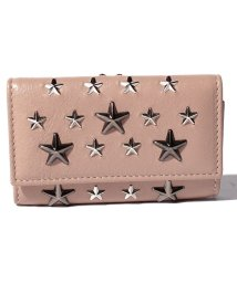 JIMMY CHOO/【JIMMYCHOO】キーケース LEATHER W/MULTI METAL STAR TRIM/502276049