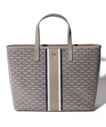 TORY BURCH/【TORY BURCH】2WAYハンドバッグ/GEMINI LINK SMALL TOTE【FRENCH GRAY GEMINI LINK STRIPE】/502277887