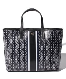 TORY BURCH/【TORY BURCH】2WAYハンドバッグ/GEMINI LINK SMALL TOTE【BLACK GEMINI LINK STRIPE】/502277888