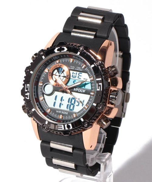 SP(エスピー)/【HPFS】アナデジ アナログ&デジタル腕時計 HPFS622 メンズ腕時計 デジアナ/WTHPFS622