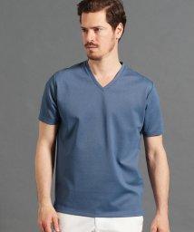 MONSIEUR NICOLE/ジオメトリックジャカードVネックTシャツ/502034211