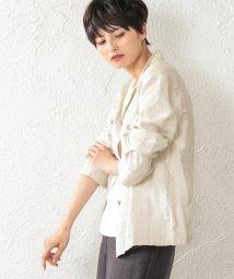 EVEX by KRIZIA/【ウォッシャブル】シャドーストライプジャケット/502045791
