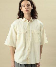 JUNRed/綿麻ストレッチWポケット付5分袖/502248000