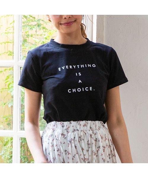 [トップス]シンプルメッセージロゴTシャツ[190339]
