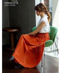 GROWINGRICH/[ボトムス スカート] 繊細なプリーツが上品な揺れ感を演出 ジョーゼット プリーツスカート [190323]/502298444