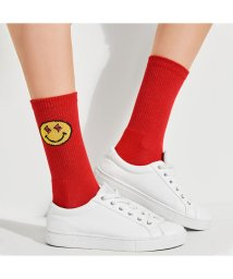 GUESS/ゲス GUESS GUESS x J BALVIN HAPPY FACE LOGO SOCKS (RED PASSION)/502301029