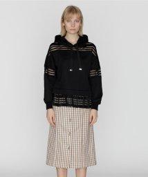GRACE CONTINENTAL/ベルト付チェックタイトスカート/502301085
