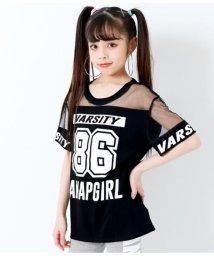 ANAP GiRL/チュール切替ナンバリングTOPS/502251315