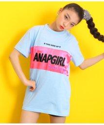 ANAP GiRL/サテン配色チュニック/502293086