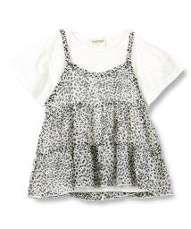 RADCHAP/ヒョウ柄キャミ付Tシャツ/502299014