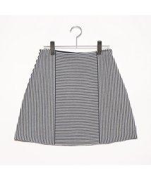 Rename/リネーム Rename ボーダー切り替えデザインスカート (ブラック)/502300614