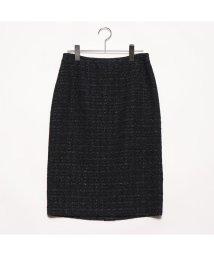 Rename/リネーム Rename ツイードタイトスカート (ブラック)/502300616