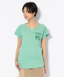 AVIREX/#キーネックポケットティーシャツ/ NEW KYE NECK POCKET T-SHIRT/502301237