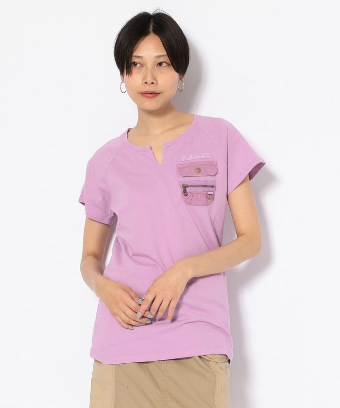 #キーネックポケットティーシャツ/ NEW KYE NECK POCKET T−SHIRT