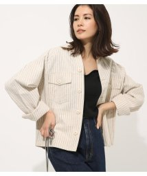 AZUL by moussy/COTTON LINEN JACKET/502301504