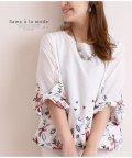 Sawa a la mode/カラフル刺繍使い裾バルーントップス/502301952