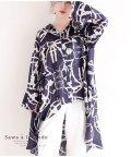Sawa a la mode/スカーフ模様のフィッシュテールシャツ/502302034