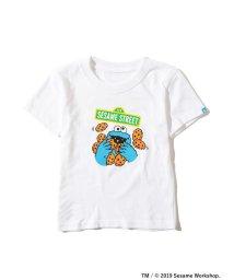 こどもビームス/<KIDS>FUJI ROCK FESTIVAL'19 × BEAMS / SESAME STREET クッキーモンスター Tシャツ (90~140cm/502302135